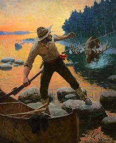 Wildlife Paintings, Wildlife Art, Man Vs Nature, Wall Hanger, Hangers, Back Art, Sports Art, Outdoor Art, Western Art