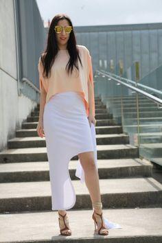 Cornelia Skirt White Fashion Brand, Fashion Show, Fashion Design, Warm Sweaters, Sustainable Clothing, Cannes Film Festival, Fashion Labels, White Skirts, Comfortable Outfits