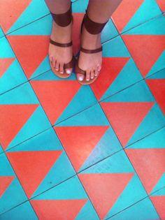 Beachwood Cafe Patterned Tile Re Imagined