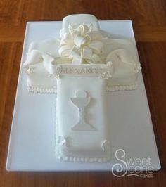 Cross First Communion Cake