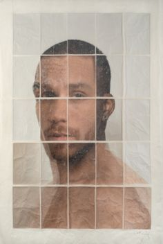 Germán Gómez, Duo V, 2013, C-print, paper and varnish, 35 7/16 x 23 5/8 in.  #BridgetteMayerGallery #GermanGomez