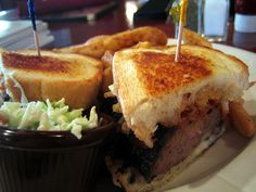 Claddagh Irish Pub - Meatloaf Melt with Guinness BBQ sauce - Delish!
