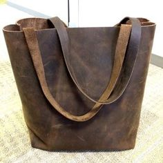 kseminsky added a photo of their purchase Leather Hobo Bags, Brown Leather Totes, Black Leather Tote, Dark Brown Leather, Leather Briefcase, Pink Leather, Brown Crossbody Bag, Market Bag, Large Bags