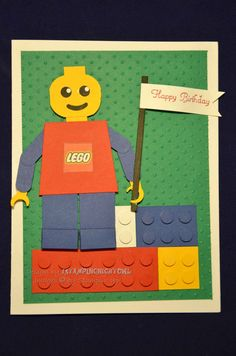 1stampingnightowl: LEGO Birthday Card