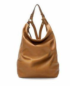 zara  |  leather bucket backpack