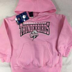 New Southern Utah Thunderbirds Pink Hooded Sweatshirt Toddler Size XXS (2-4) NWT #Kidnme