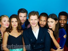 Leah Pipes, Danielle Campbell, Daniel Gillies, Joseph Morgan, Charles Michael Davis, Phoebe Tonkin, Yusuf Gatewood, 'The Originals' #EWComicCon  Image Credit: Michael Muller for EW