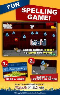 Use LetterFall on VocabularySpellingCity.com to allow students to demonstrate spelling knowledge.