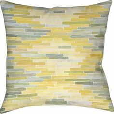 Thumbprintz Green and Yellow Reflection 2 Indoor Pillow $34 for 2
