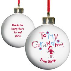 Personalised Grandma Bauble  from Personalised Gifts Shop - ONLY £10.99