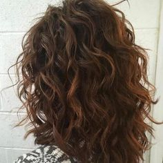 Wavy/ curly shoulder length hair | Perms for Thick Hair