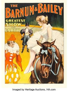 "Movie Posters:Miscellaneous, Barnum and Bailey (Strobridge, 1897). Circus Poster (30"" X 40"")....."
