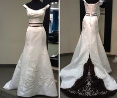 Alfred Angelo wedding dress with chocolate accent