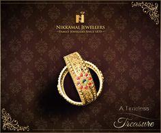 Gold Kangans & Bangles! A Timeless Treasure for every Indian woman.  Buy these at Nikkamal Jewellers, Ludhiana & Jalandhar Showrooms. #nikkamaljewellers #gold #kundan #diamond #platinum #watches #polki