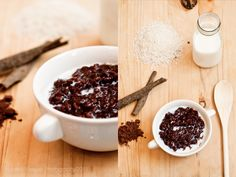 Champurado, or sweet chocolate rice porridge, is a traditional Filipino cuisine served at breakfast. I like my champurado bittersweet with a little bit of vanilla and cinnamon. Best served hot with fresh milk.