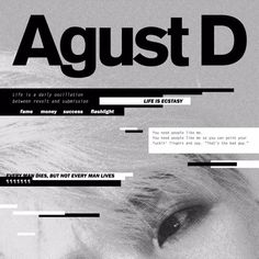Agust D's 'Agust D', the first mixtape album, featuring 'Agust D', 'give it to me' and 'so far away' is out now. This is happiness. And gold.