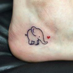 My cute little tattoo 🐘💕 Mom Daughter Tattoos, Tattoos For Daughters, Sister Tattoos, Sexy Tattoos, Body Art Tattoos, Sleeve Tattoos, Cool Tattoos, Elephant Tattoo Design, Elephant Tattoos