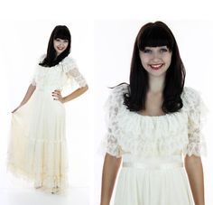 70s Lace Dress Wedding Vintage 60s Mod Lace by neonthreadsdesigns, $65.00