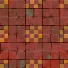 Floor Texture, Tiles Texture, Texture Art, Texture Painting, Game Textures, Textures Patterns, Hand Painted Textures, Game Props, Vinyl Paper