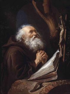 Saint Jerome in Prayer, par Gerrit Dou