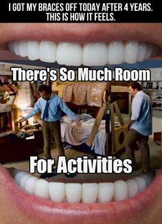 After getting my braces off… @Omar Ahmad Ahmad Hernandez Medina how you feel! Lol