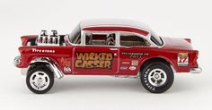 the Lamley Group: The '55 Bel Air Candy Striper Gasser's cousin is debuting at Hot Wheels Nationals...
