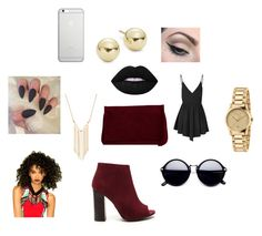 """""""Night Out"""" by tiera281 ❤ liked on Polyvore featuring Glamorous, Pieces, Native Union, Gucci, Gemelli, Lord & Taylor, Mehron and Lime Crime"""