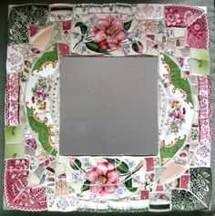 broken china mosaic mirror