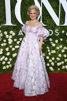 """Christine Ebersole, nominated for best actress in a musical for her role in """"War Paint,""""wearing a custom design by William Ivey Long."""