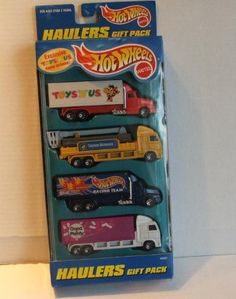 1997 Hot Wheels Toys R Us Exclusive Haulers Gift Pack Mib by mattel. $28.48. ITEM IS NEW AND IN GREAT SHAPE!