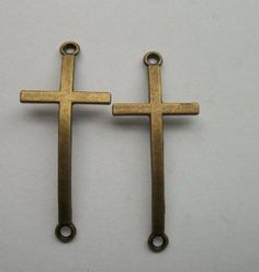 "10pcs bronze plated ""cross"" charms connector Suitable for charm bracelet"