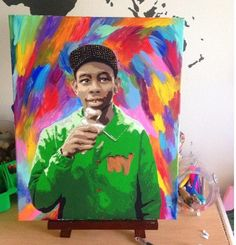 Tyler the Creator painting by PaintThePlanet on Etsy  Tyler the Creator