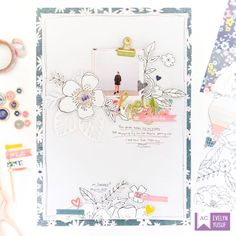 An Eye-catching Floral Layout