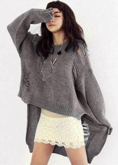 New-Women-Oversized-Loose-Knitted-Sweater-Batwing-Sleeve-Tops-Knitwear-Outwear