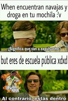Lee de la historia Momos pa' tu cora :v por Taeshxt (✿ 벽에 열심히 섹스 ✿) con 432 lecturas. Funny Spanish Memes, Spanish Humor, Avengers Memes, Marvel Memes, Best Memes, Dankest Memes, Funny V, Little Bit, Comedy Central