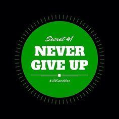 There is one sure thing that will keep you from winning: giving up. #nevergiveup #focus #jbsandifer #dreambig #runtherace#neverquite#staystrong#eyeontheprize#revivelifestylewp