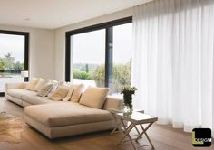 Interior innovation from within Living Room Drapes, Living Room Interior, Home Living Room, Home Interior Design, Living Room Decor, Living Spaces, Arched Window Coverings, Muebles Living, Curtains With Blinds