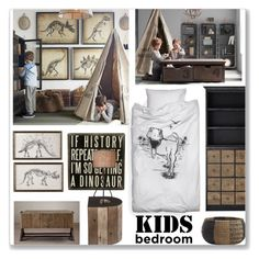 """Kid's Bedroom"" by ambervogue ❤ liked on Polyvore featuring interior, interiors, interior design, home, home decor, interior decorating, Dot & Bo, Restoration Hardware, BEA and CB2"