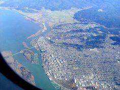 Flying over Eureka Arcata