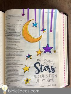 Bible Journaling Ideas: A Look At My Bible Doodles This might be one of the toughest posts I've ever written. I think for the same . Bullet Journal Weight Loss Tracker, March Bullet Journal, Daily Bible, My Bible, Psalm 147, Psalms, Scripture Art, Bible Art, Bible Journaling For Beginners