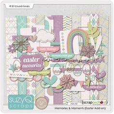 Memories & Moments {Easter Add-on} by SuzyQ Scraps