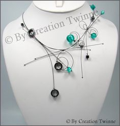 gray and turquoise necklace hematite bridesmaids por creationtwinn Unique Necklaces, Beautiful Necklaces, Handmade Necklaces, Unique Jewelry, Jewelry Design, Beaded Necklaces, Hematite Necklace, Gemstone Earrings, Collier Turquoise