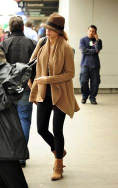 blake lively - airport style. Super cozy look for flying.