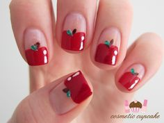 Apple nail. SO cute!