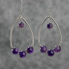 Hey, I found this really awesome Etsy listing at https://www.etsy.com/listing/163056518/amethyst-dangling-tear-drop-loop