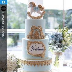 What a great picture taken by Close up of our rocking horse themed cake on Saturday for Joshua's christening. Repost with love Joshua's christening cake! So regal and defined for such an occasion ~ Venue: The Deck Room, Oatlands House Horse Baby Showers, Cowboy Baby Shower, Baby Shower Cakes For Boys, Baby Boy Cakes, Baby Shower Decorations For Boys, Baby Shower Themes, Shower Ideas, Rocking Horse Cake, Torta Angel