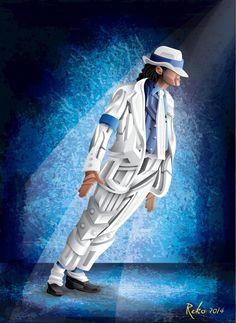 Michael Jackson fusión de ilustración y graffiti 3D #rekorises