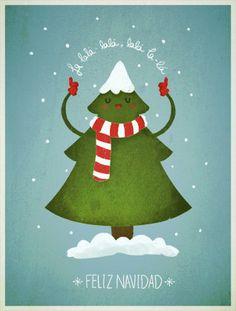 Pack de 5 postales de Navidad por LaPendeja en Etsy