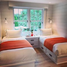 small bedroom design , small bedroom design ideas , minimalist bedroom design for small rooms , how to design a small bedroom Small Guest Rooms, Guest Bedrooms, Twin Bedroom Ideas, Twin Girl Bedrooms, Bedroom Girls, Home Bedroom, Bedroom Decor, Master Bedroom, Bedroom Furniture