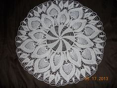 This pattern calls for 2 balls (282 yds. per ball) of size 10 crochet thread,and size 7 hook.